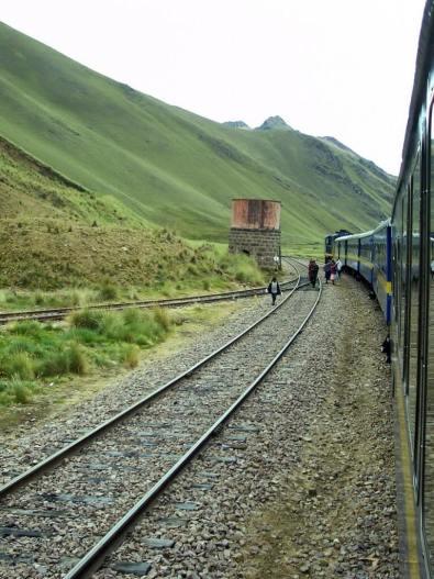 PeruRail Andean Explorer train stopped at La Raya in Peru, South AmericaSouth America