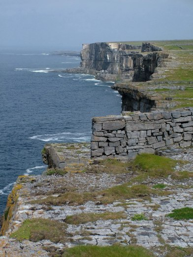 An image of the North Atlantic coastline at Dun Aonghasa Fort on Inishmore Island, in Ireland. Photography by Frame To Frame - Bob and Jean.