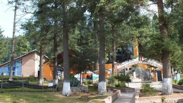 Main buildings at El Rosario Monarch Butterfly Reserve, in Michoacán, Mexico