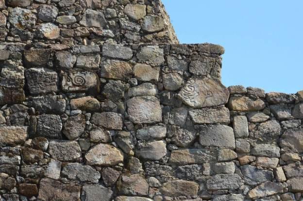 petroglyphs at pyramids of san felipe de los alzati, zitacuaro, mexico