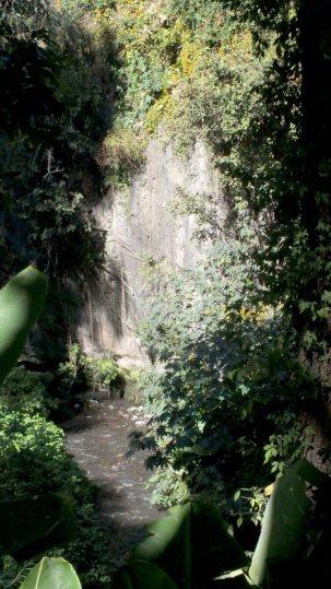 Riverside hiking trail at Hotel Rancho San Cayetano, Mexico