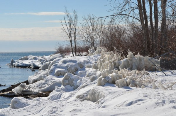 shoreline ice at tommy thompson park, toronto, ontario, 2