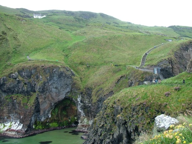 Image of the hills above Carrick-a-Rede Island in Northern Ireland. Photography by Frame To Frame - Bob and Jean