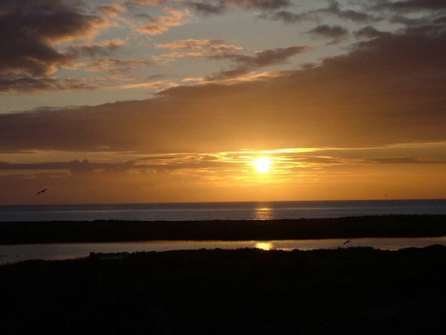 sunset on inishmore island, ireland