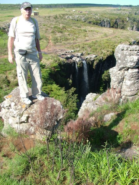 bob above pinnacle waterfall, graskop, south africa
