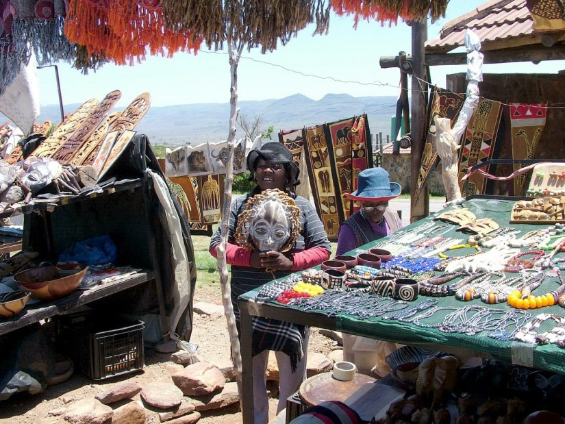 Craft market at the top of the Blyde River Canyon, South Africa