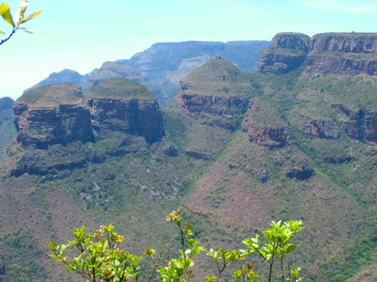 The Three Rondavels in Blyde River Canyon in South Africa