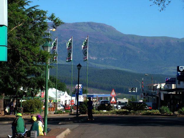 Main street in Sabie, South Africa