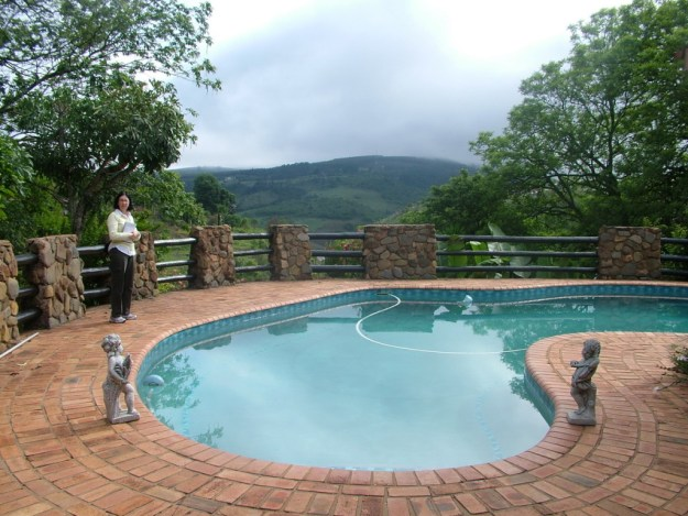 Swimming pool at Valley View Lodge in Sabie, South Africa