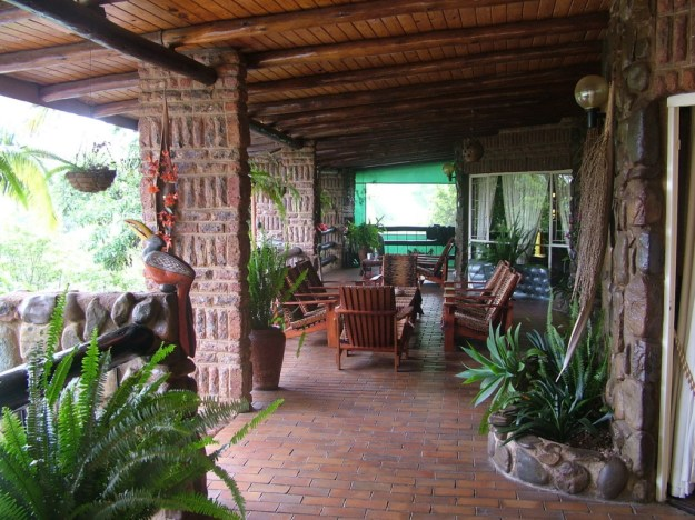 Front porch at Valley View Lodge in Sabie, South Africa