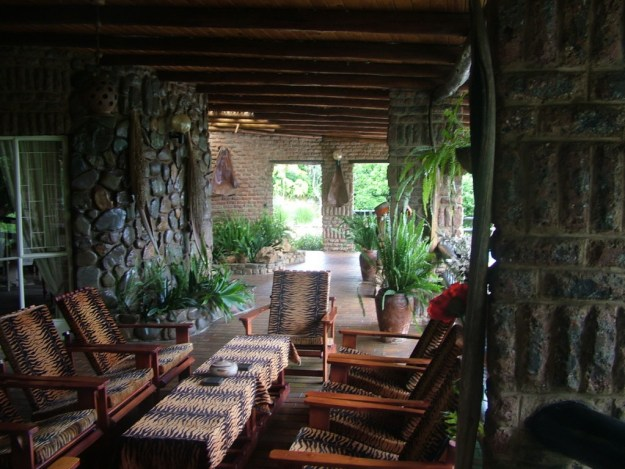 Front verandah at Valley View Lodge in Sabie, South Africa