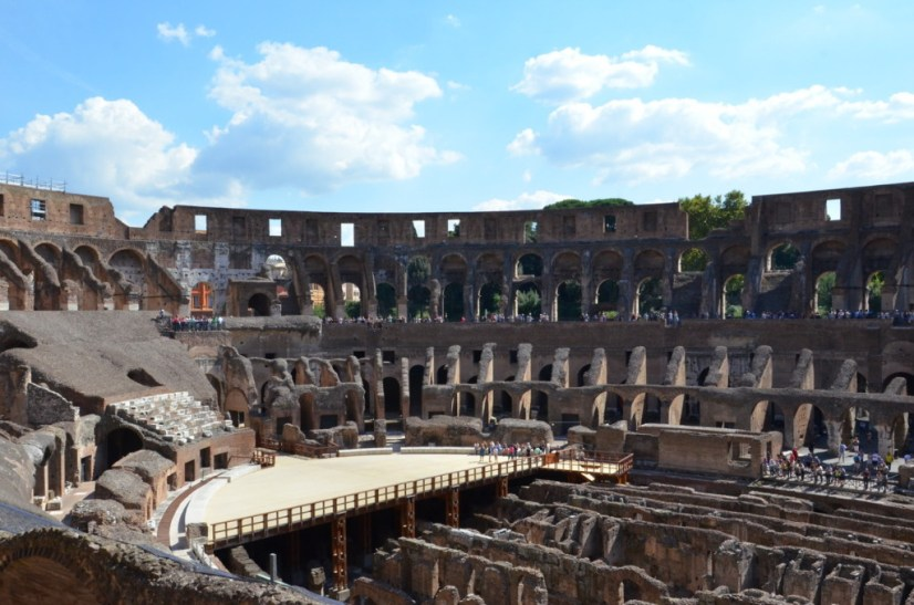 An image of the interior of the Colosseum in Rome, Italy. Photography by Frame To Frame - Bob and Jean.