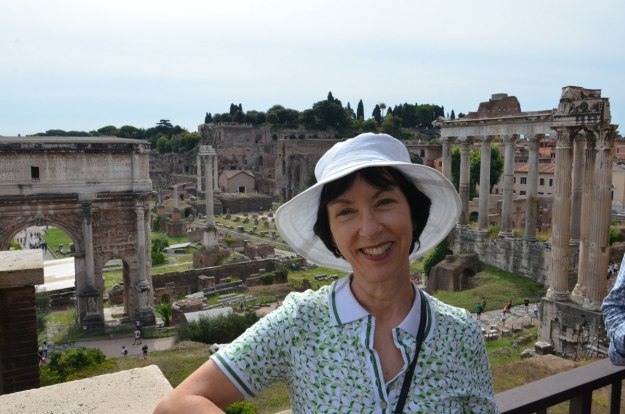 Jean at the Roman Forum, Rome, Italy