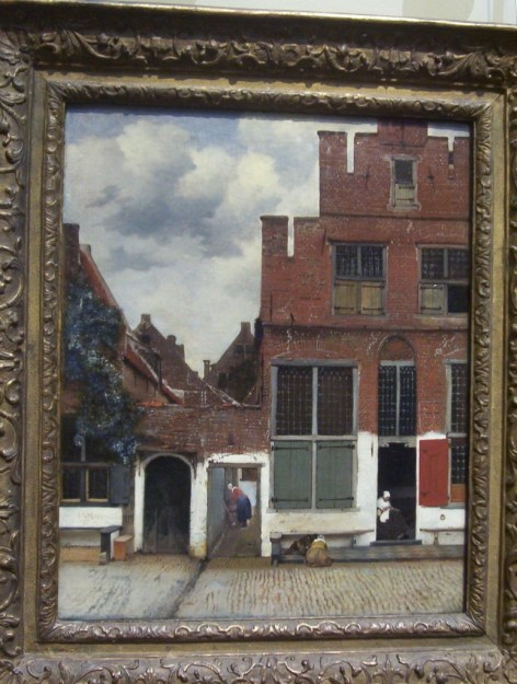 View of houses in Delft, by Johannes Vermeer