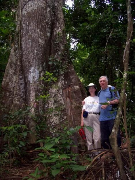 Bob and Jean in the rainforest at Sandoval Lake Lodge, Lake Sandoval, Amazon Delta, Peru