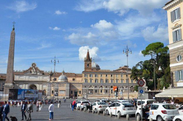 Piazza del popola in Rome, Italy