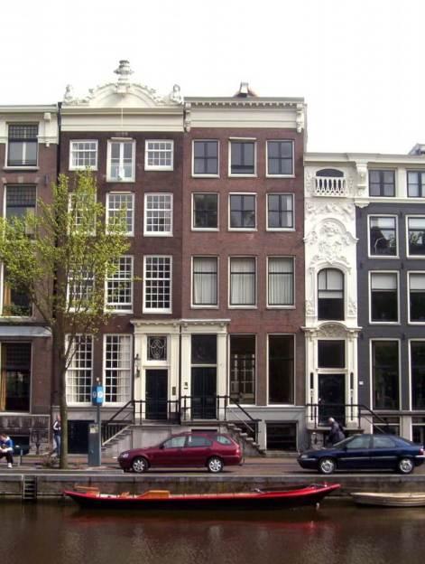 street along a canal, amsterdam, netherlands