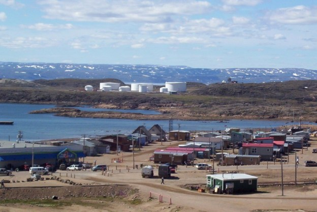 photograph of cloudy skies above Iqaluit in Nunavut, Canada