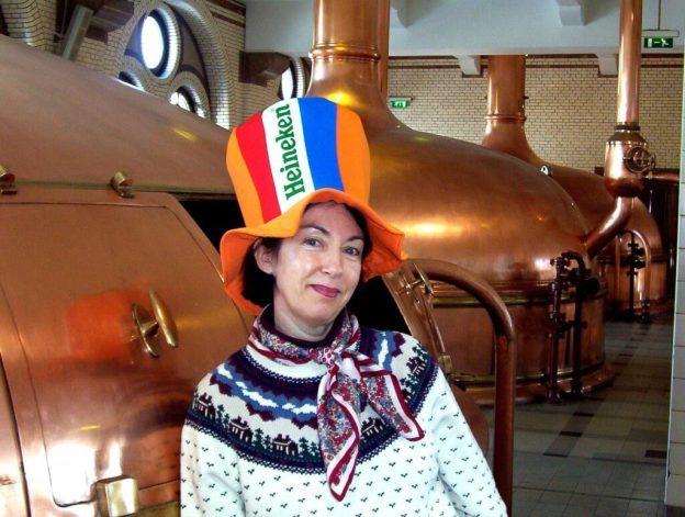 jean at the heineken beer plant in amsterdam