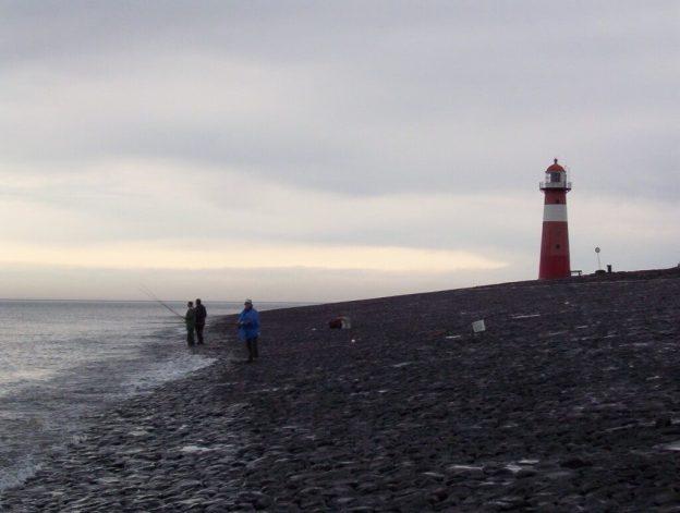 lighthouse on the shore at domburg, zeeland, the netherland