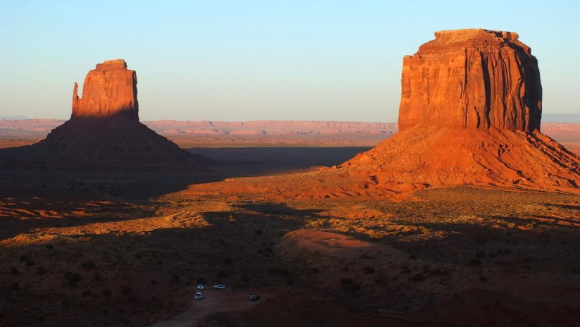 East Mitten and Merrick Butte in Monument Valley in Arizona, USA