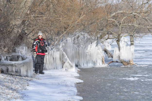 jean along the ice on lake ontario 1