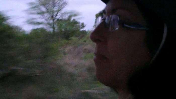 jean on armed safari, kruger national park, south africa, 4