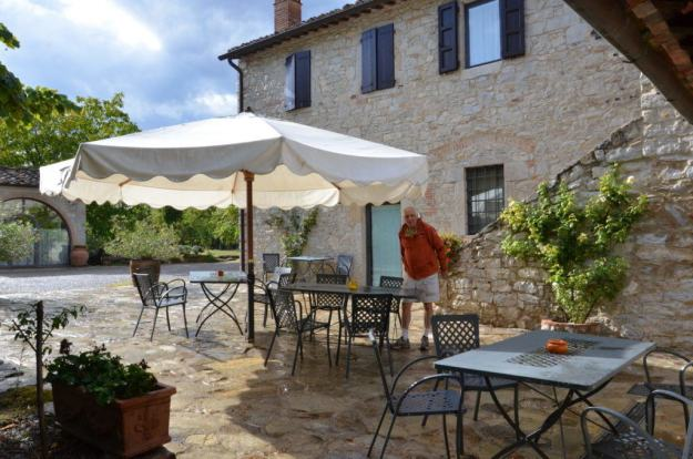 Stone cottage with private patio at Il Colombaio di Cencio, Gaiole, Chianti, Tuscany, Italy