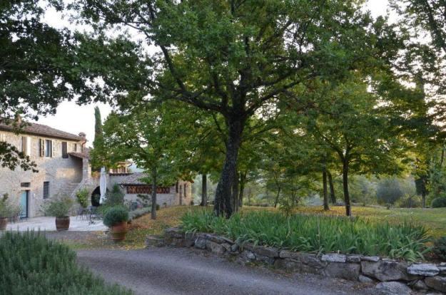 Stone farmhouse at Il Colombaio di Cencio, Gaiole, Chianti, Tuscany, Italy