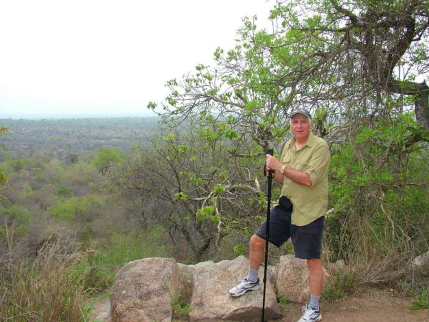 An image of Bob at Nkumbe Lookout in Kruger National Park, South Africa. Photography by Frame To Frame - Bob and Jean.