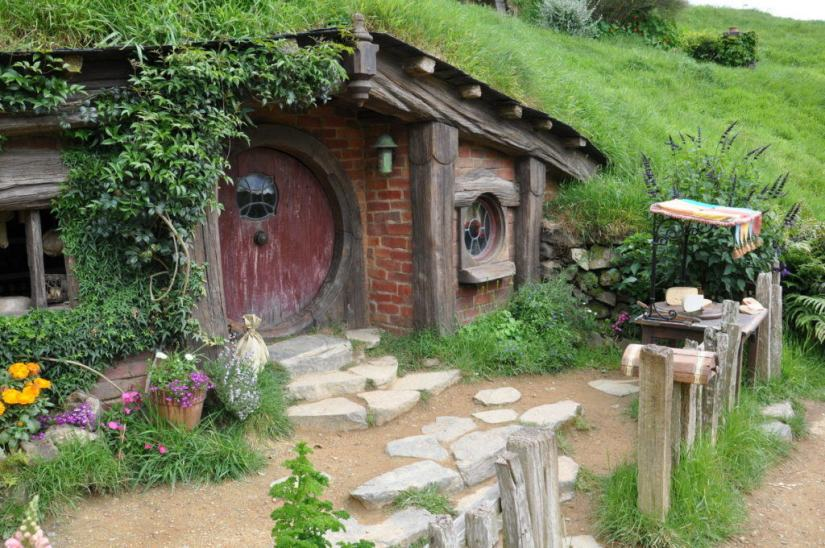 An image of the cheese makers hobbit hole at Hobbiton in New Zealand. Photography by Frame To Frame - Bob and Jean.
