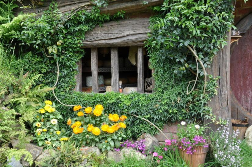 An image of the cheesemakers hobbit hole at Hobbiton in New Zealand. Photography by Frame To Frame - Bob and Jean.