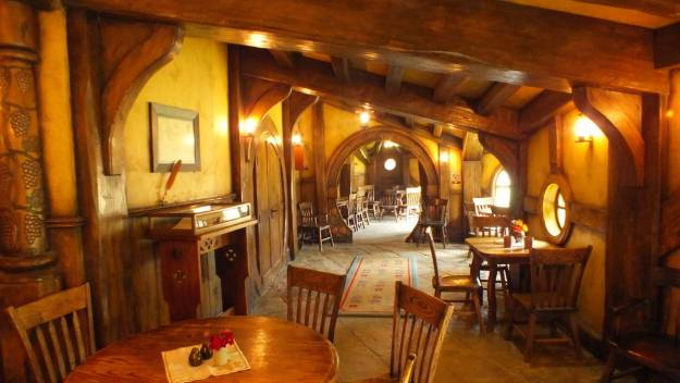 An image of interior of the Green Dragon Pub at Hobbiton in New Zealand. Photography by Frame To Frame - Bob and Jean.