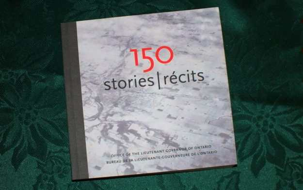 an image of the book of 150 Stories to commemorate Canada's sesquicentennail