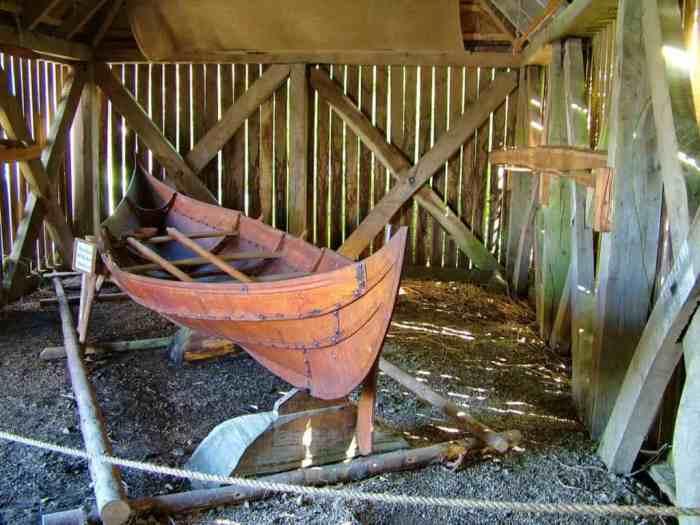 Viking boat at Irish National Heritage Park, Ireland
