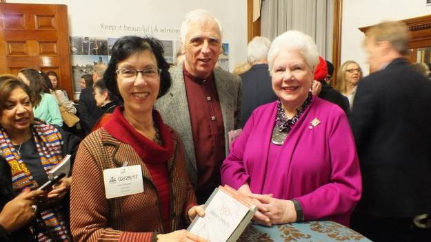 an image of Lieutenant Governor Elizabeth Dowdeswell with Jean and Bob, Toronto, Ontario, Canada