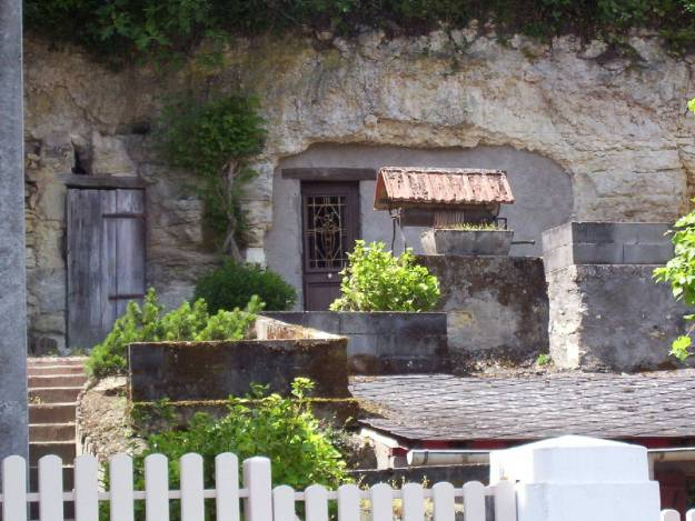 An image of a Cave Home or Troglodyte Home in the Loire Valley in France.