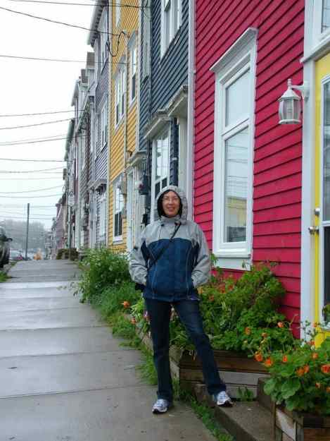 an image of a colourful row of houses in St. John's, Newfoundland, Canada