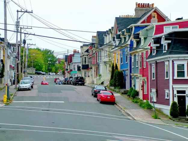 an image of a colourful street scene in St. John's, Newfoundland, Canada