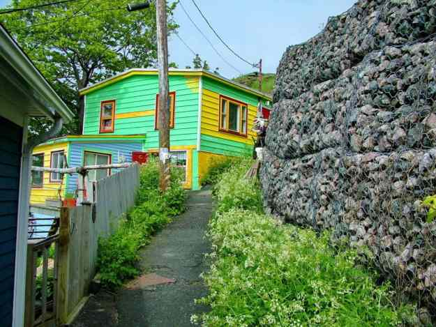 an image of an emerald green house in St. John's, Newfoundland, Canada