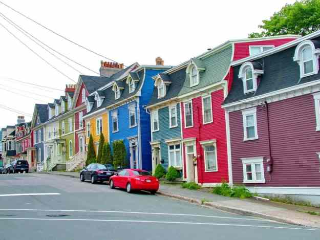 an image of colourful houses in St. John's, Newfoundland, Canada