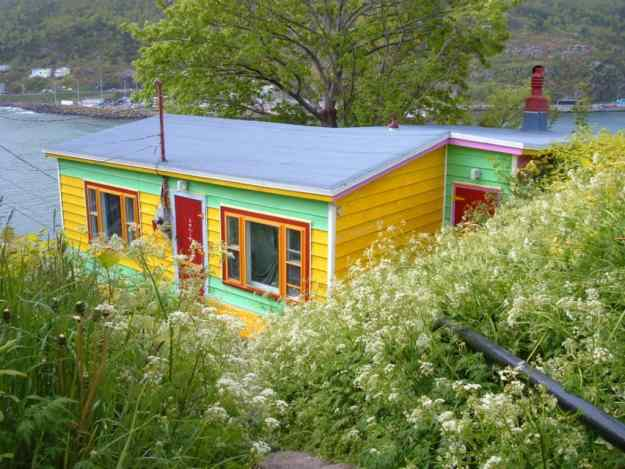 an image of a bright yellow house in St. John's, Newfoundland, Canada