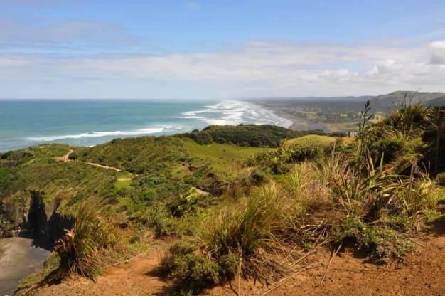 an image of sand dunes near Otakamiro Point at Muriwai, New Zealand