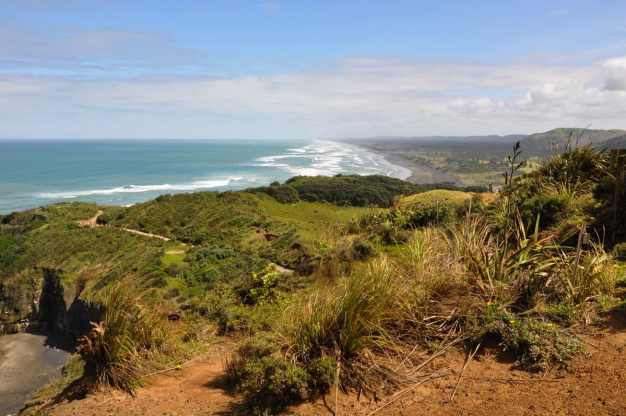 an image of sand dunes near Otakamiro Point at Muriwai, New Zealand
