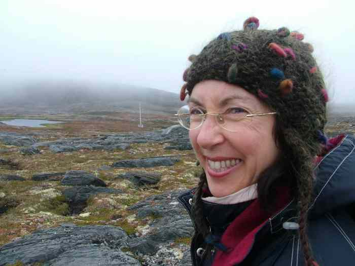 jean hiking on quirpon island, newfoundland, canada