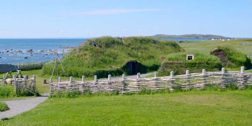 Viking structures at l'anse aux meadows, newfoundland, canada