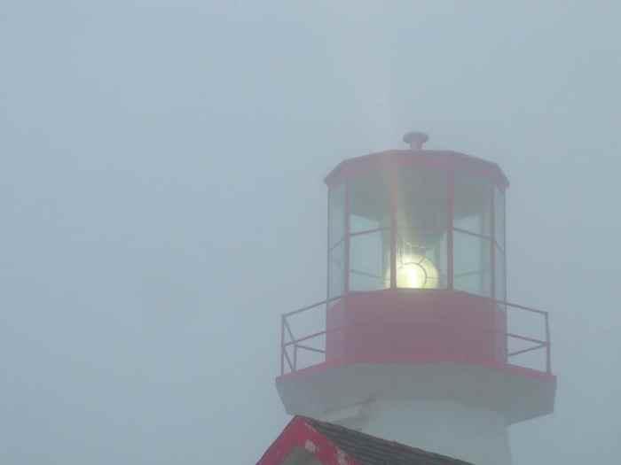 quirpon lighthouse lantern, quirpon island, newfoundland, canada