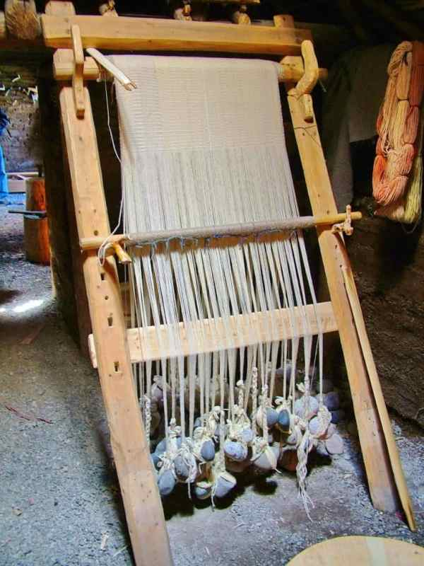 a loom at l'anse aux meadows, newfoundland, canada