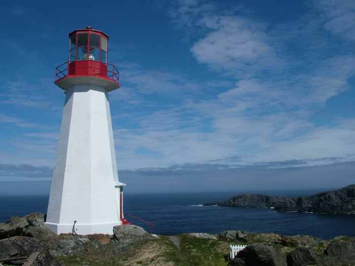 lighthouse at cape bauld, quirpon island, newfoundland, canada