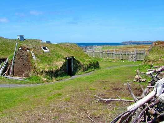 re-created longhouse, l'anse aux meadows, newfoundland, canada, 3946